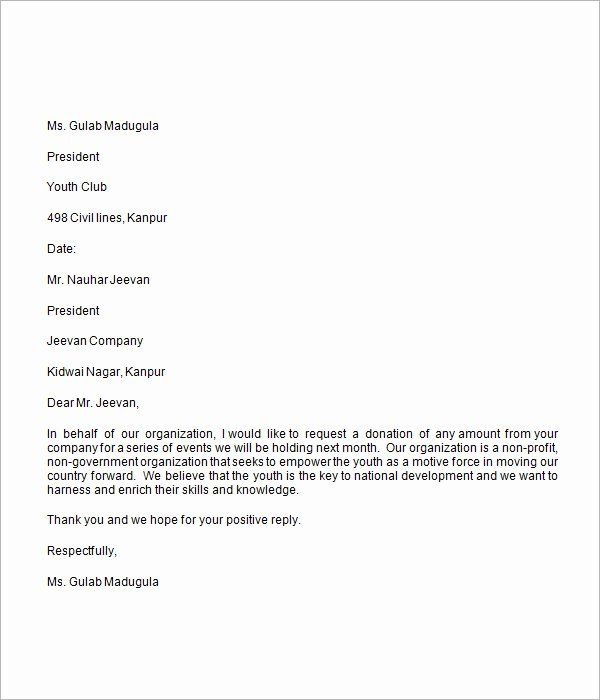 Free 34 Donation Letter Templates In Pdf: Sample Letters Asking For Donations Elegant Donation
