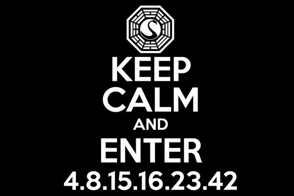 Keep Calm And Enter 4 8 15 23 42 Samarretaxula Lost