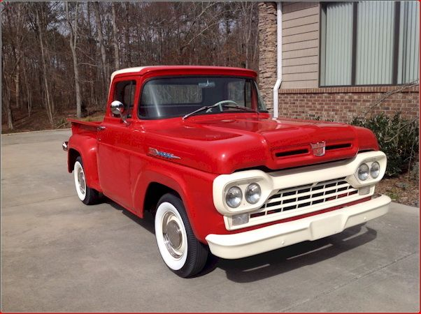 1960 Ford F100 Absolutely Stunning In Red And White Classic