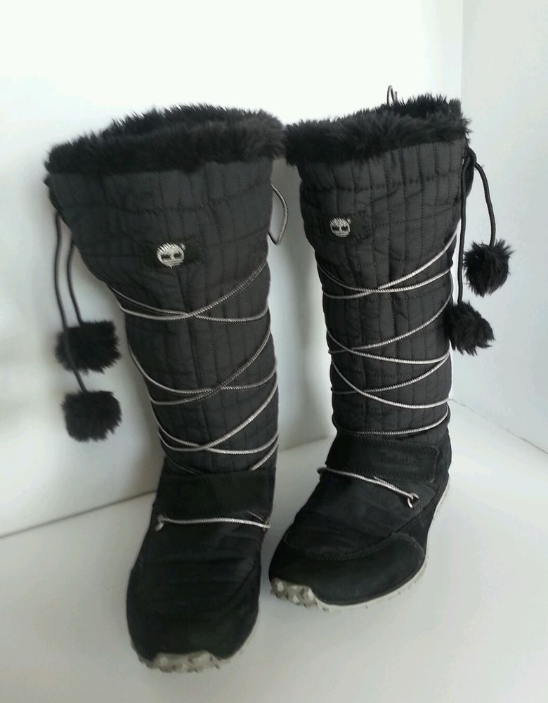 8b0878c90c Timberland boots Leather and Fabric Winter Fur Trim