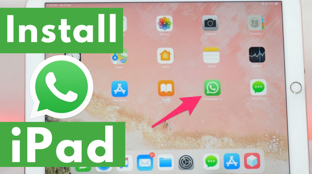 How To Install Whatsapp On Ipad Without Jailbreak 2019 Installation Ipad Social Media