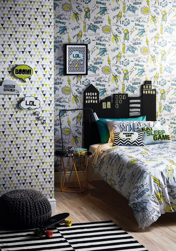 jester lime kids teen bedrooms ideas quirky wallpaper kids rh pinterest com