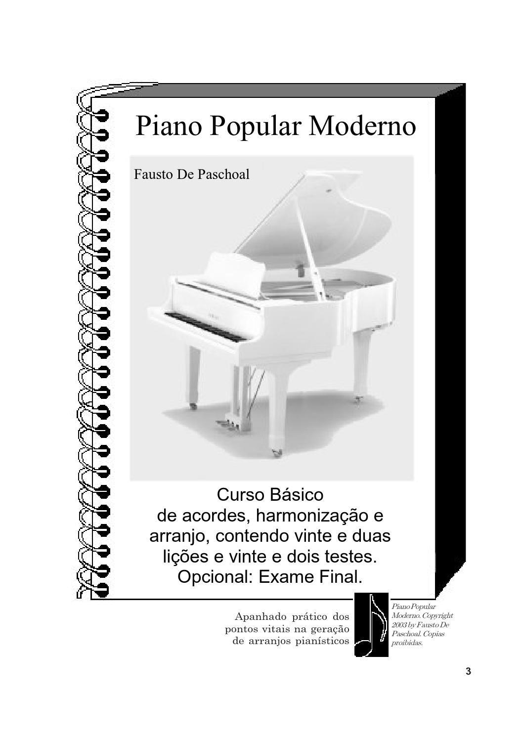Piano Popular Moderno Em 2020 Partitura Piano Partituras E Arranjos