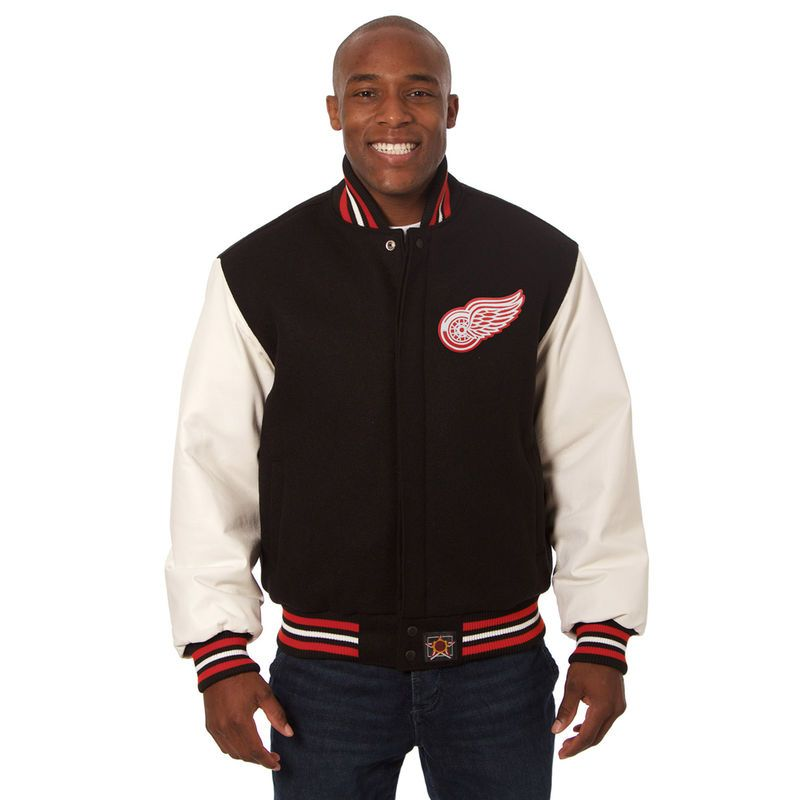 d866e90c Detroit Red Wings JH Design Two-Tone Jacket - Black | Products | New ...