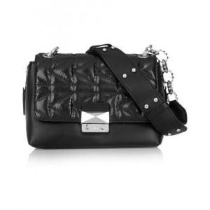60% off Karl Lagerfeld - Leather Shoulder Bag K/Kuilted Snake Effect-Paneled Black - $250.00