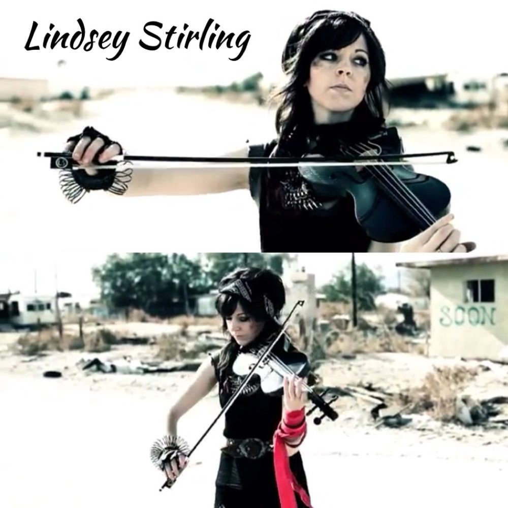 Lindsey Stirling playing radioactive with Pentatonix! If you have