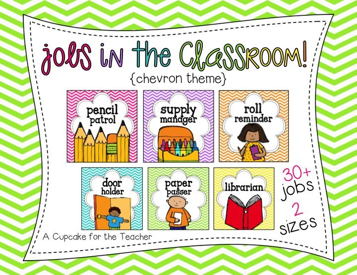 A Cupcake For The Teacher: Almost 40 Classroom Jobs To