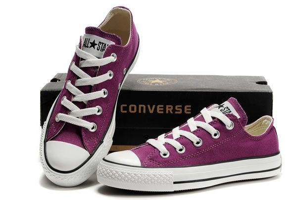 Converse All Star Pure Purple Low Top Canvas Shoes [JCS-3476 .