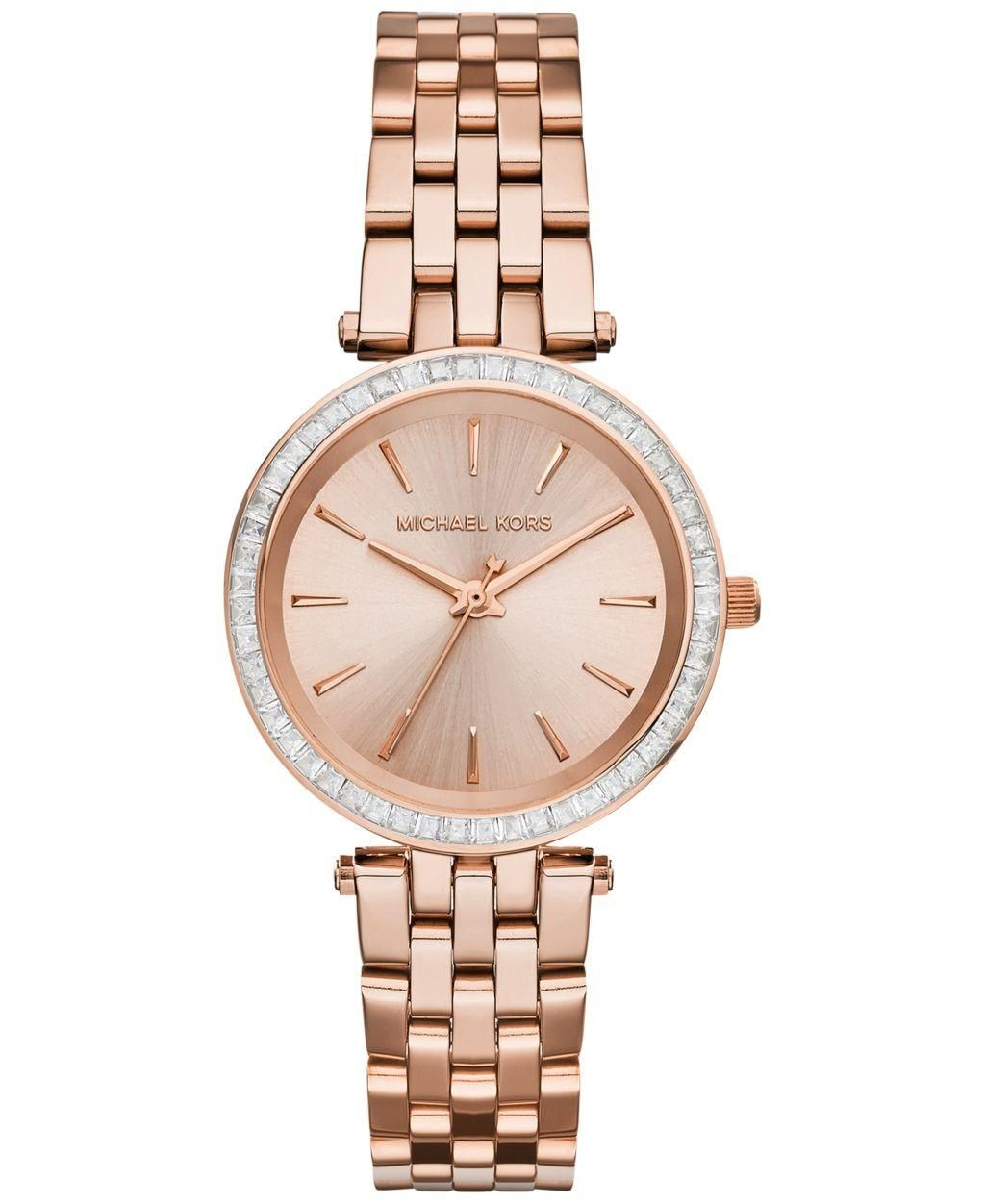 cc75b9d6367 Michael Kors Women's Mini Darci Rose Gold-Tone Stainless Steel Bracelet  Watch 33mm MK3366 - Brought to you by Avarsha.com