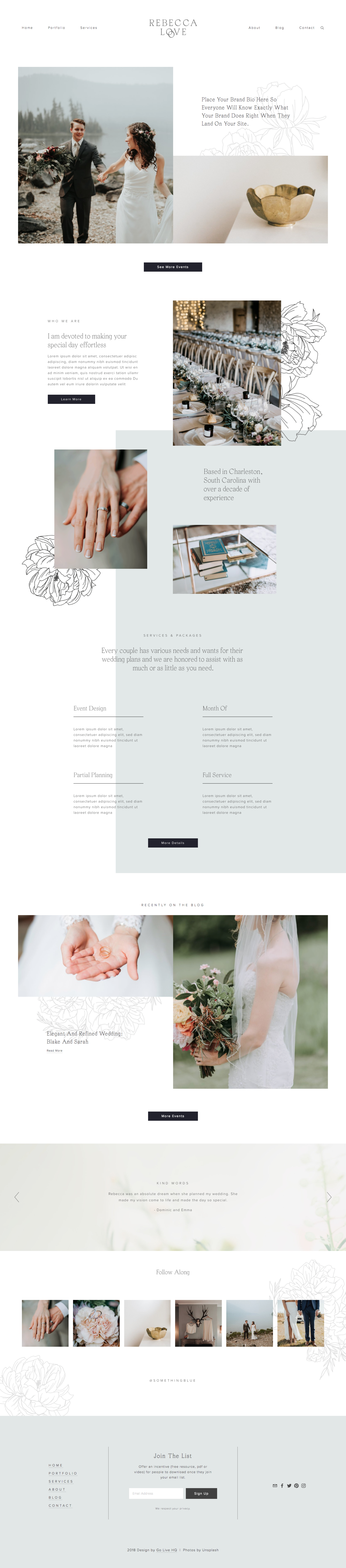 Rebecca Love Squarespace Template For Service Based Businesses Squarespace Website Templates Squarespace Templates Fun Website Design