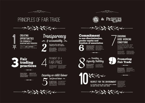 Peoples Coffee wall menu by Alexandra Hawkhead, via Behance - coffee menu