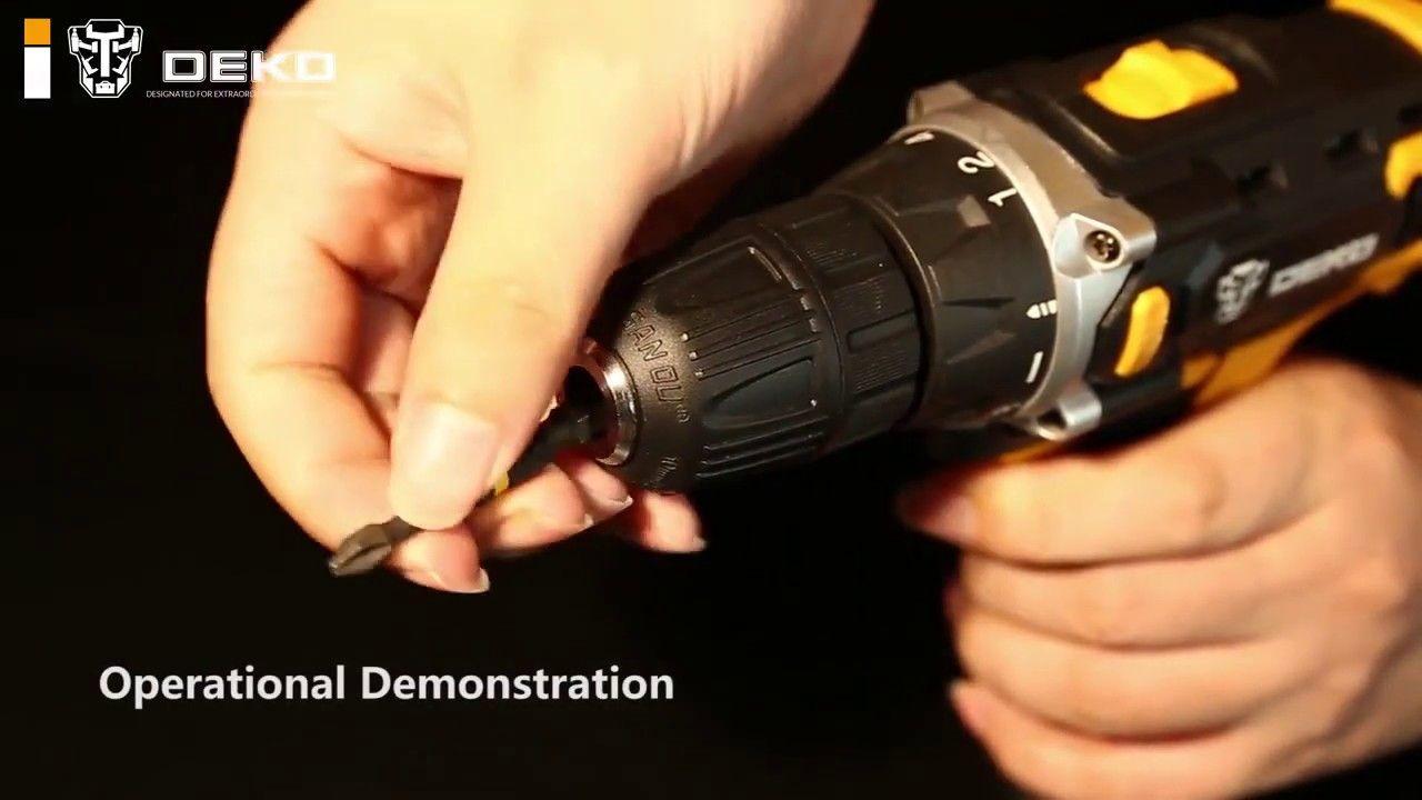 Deko New Arrival Banger 12v 16v 20v Cordless Drill Electric