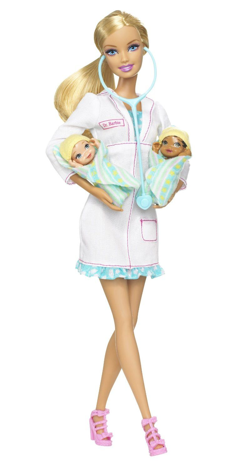 Barbie I Can Be Newborn Baby Doctor Barbie Playline