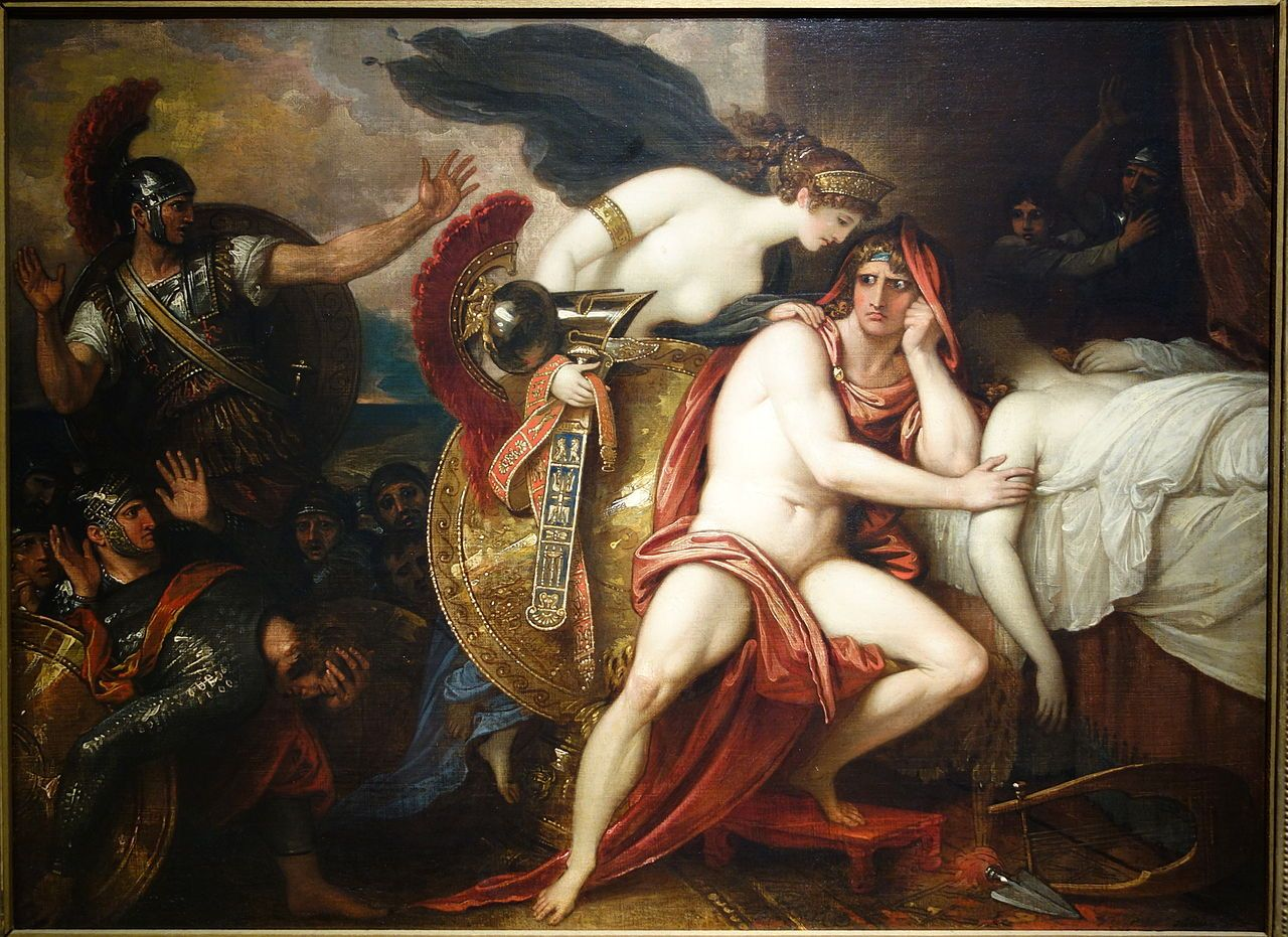 Thetis bringing the armor to Achilles by Benjamin West, c