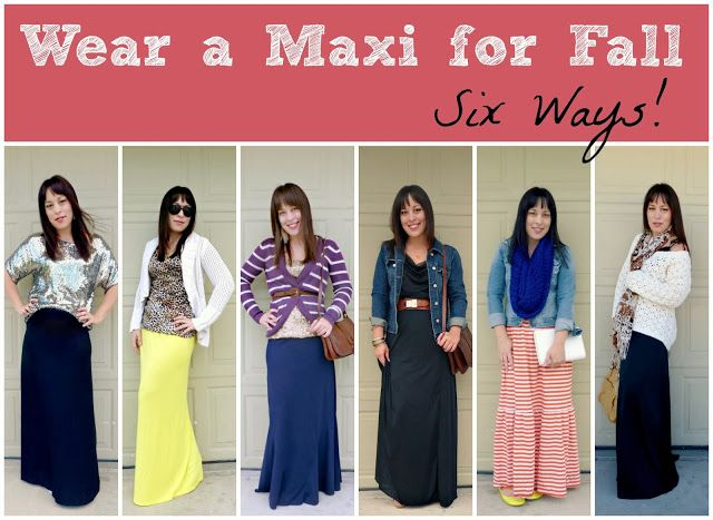 six ways to wear a maxi skirt for fall and winter | Maxi