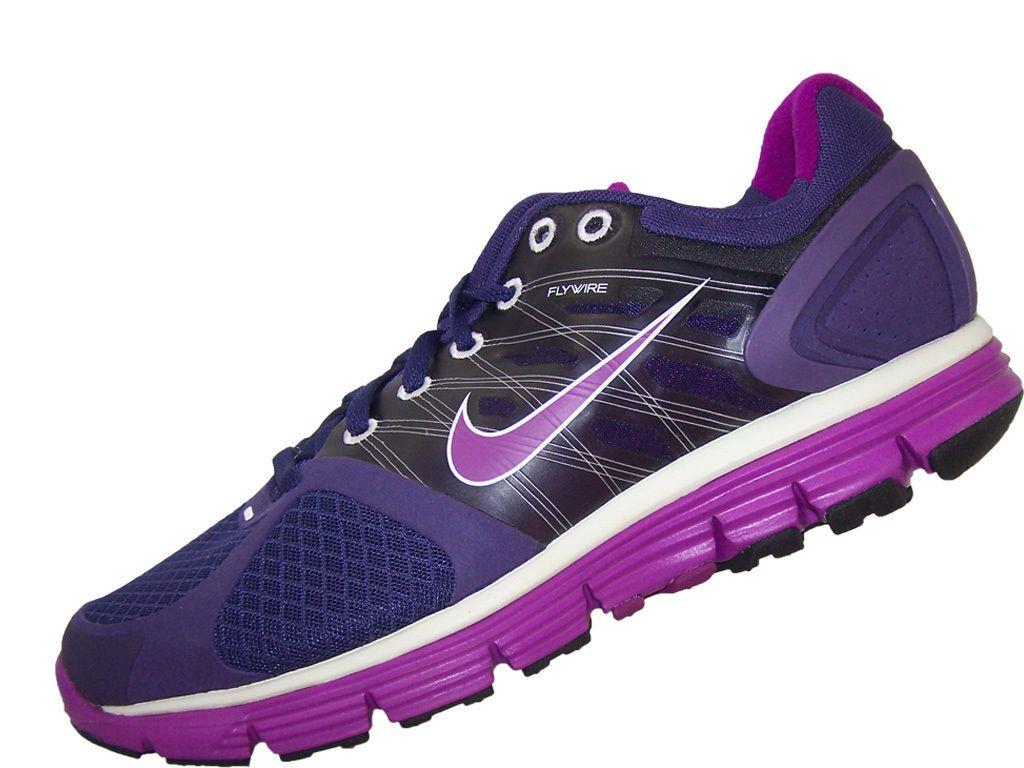 d8dd46fcba12 Womens Nike Lunarglide+ 2 407647-561 Size 9.5 Ink Red Plum-Metallic ...
