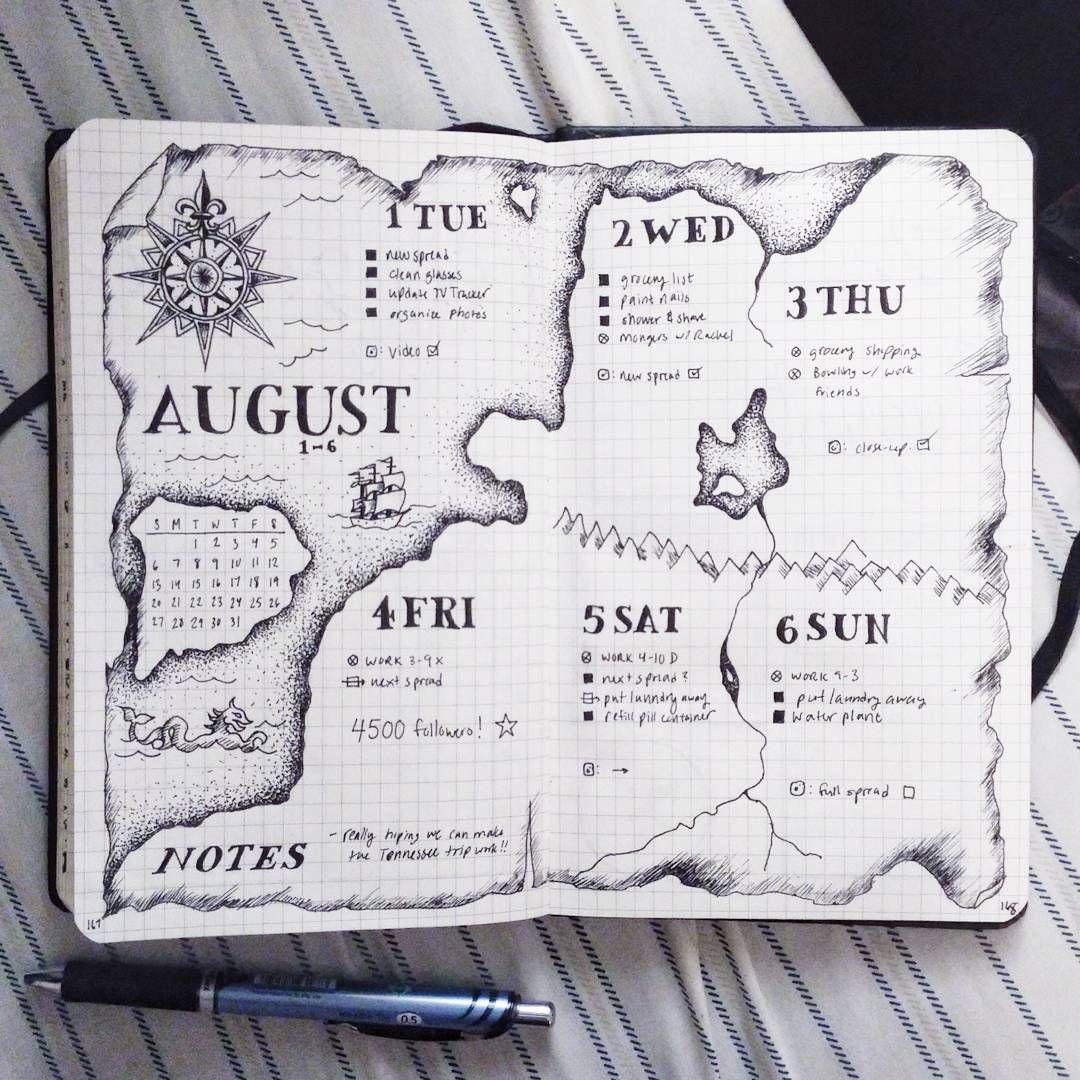#augustbulletjournal