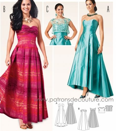 Abendkleid Schnittmuster/ Evening Gown Pattern | Abendkleider ...