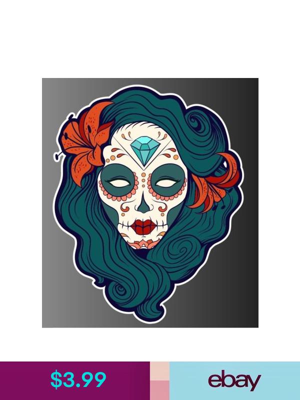 Sugar Skull day of the dead sticker vinyl decal n41-3