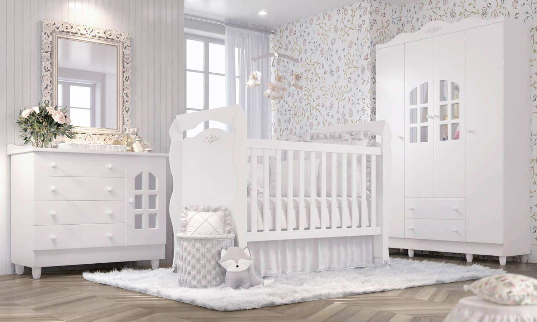 ebb443cce8 ... quarto de bebê Julie Provençal de Grão de Gente. Com um berço minicama  3 em 1