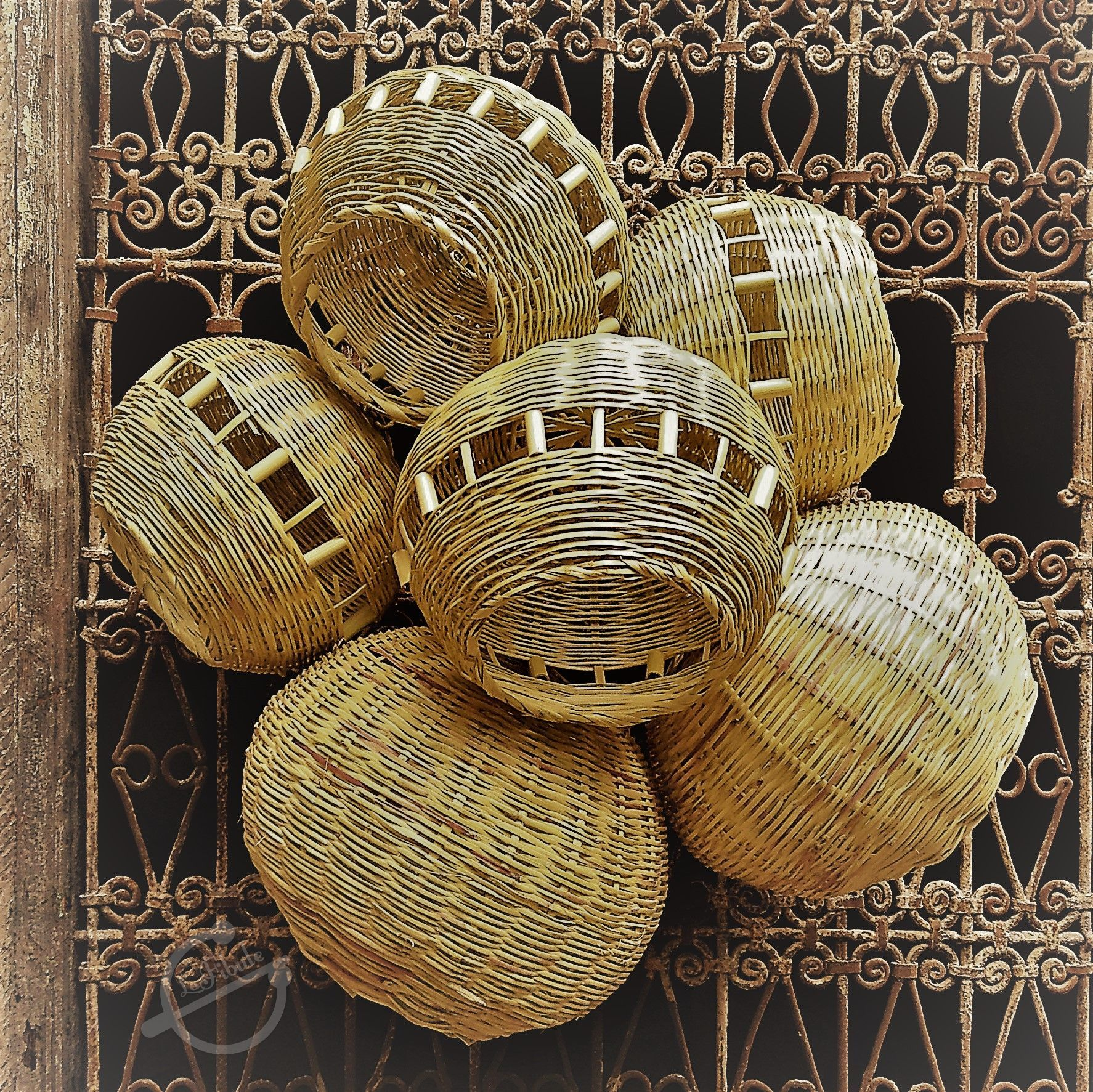 Lustre Osier Naturel Luminaire Decoration Ethnique Artisanat Marocain