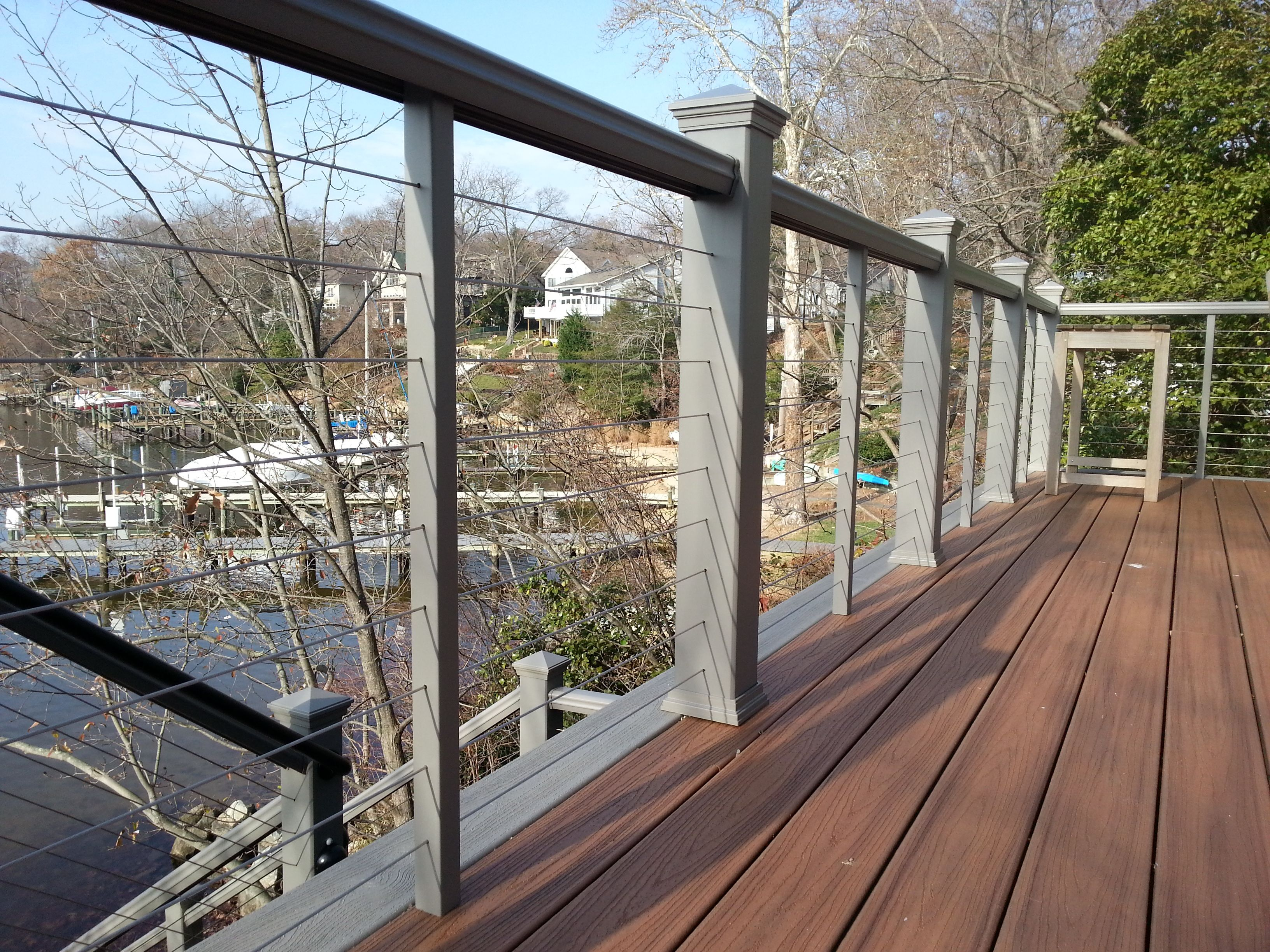 cable deck railing trex railing with stainless steel cable railing 10101