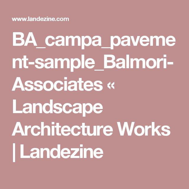 BA_campa_pavement-sample_Balmori-Associates «  Landscape Architecture Works   Landezine