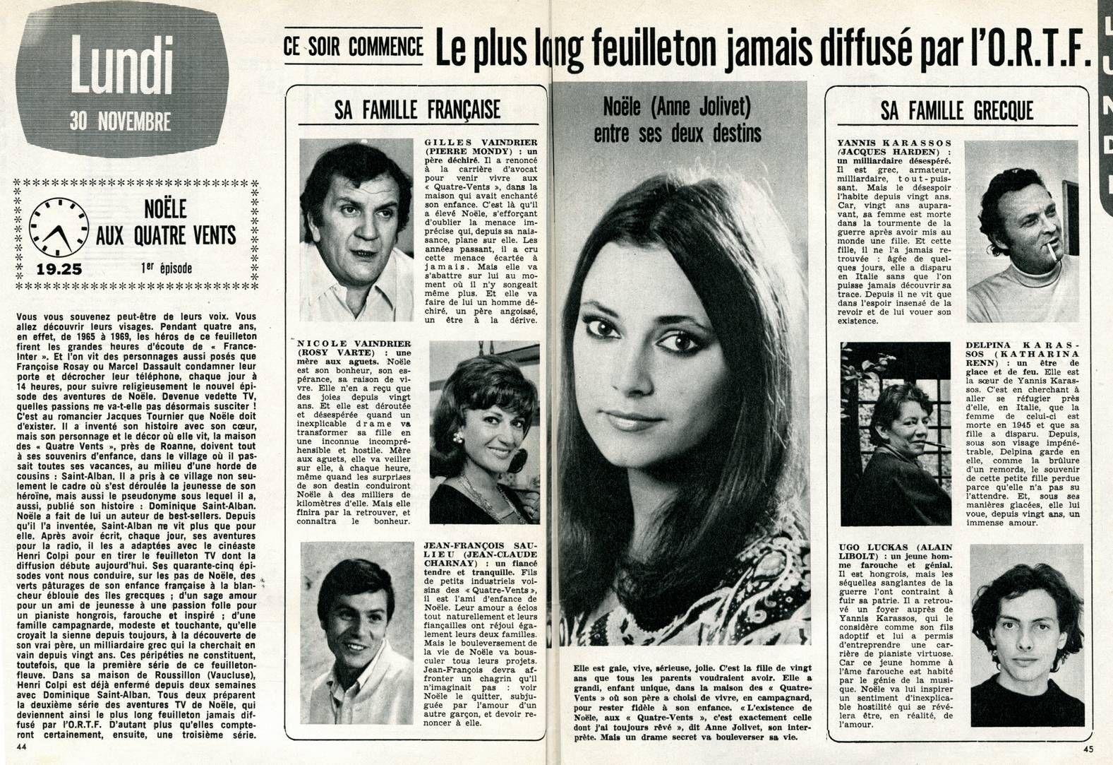 Noele Aux Quatre Vents Telefilm Vent Actrice Francaise