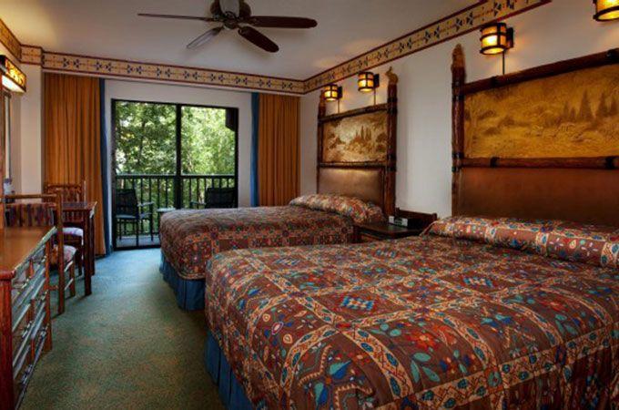 Disney S Wilderness Lodge Deluxe Resort Standard Room With 2