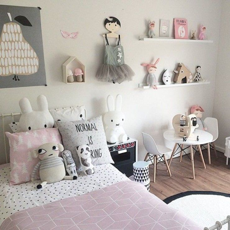 chambre petite fille rose et gris maison pinterest. Black Bedroom Furniture Sets. Home Design Ideas