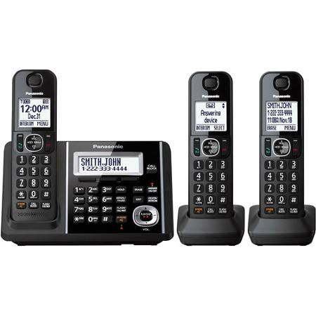Panasonic Cordless Phone and Answering Machine with 3 ...