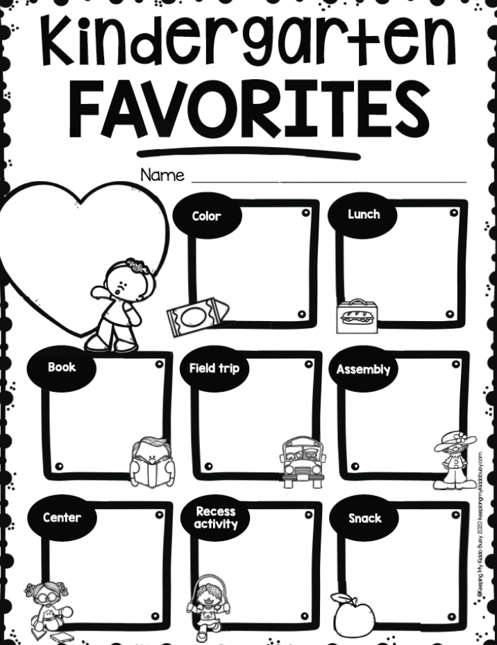 FREEBIE END OF YEAR Kindergarten activities and worksheets
