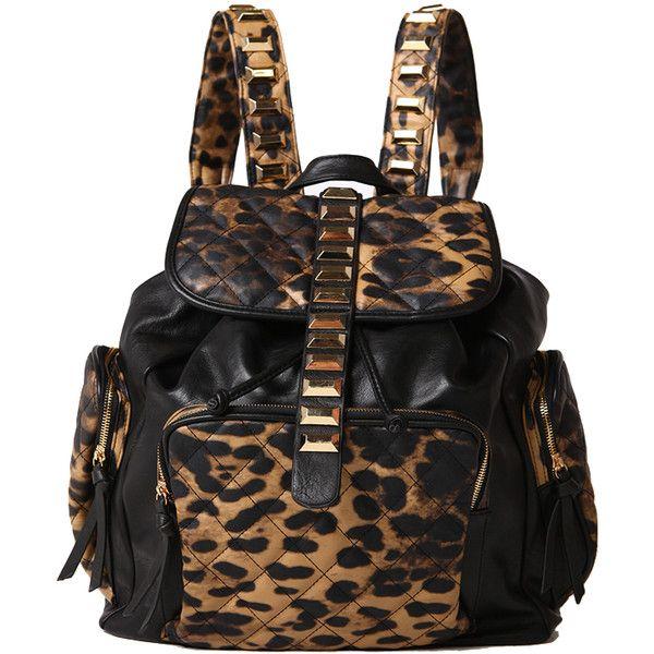 Shoulder Bag Backpack Leopard Cheetah Animal Print Drawstring Bag Womens Kids Backpack