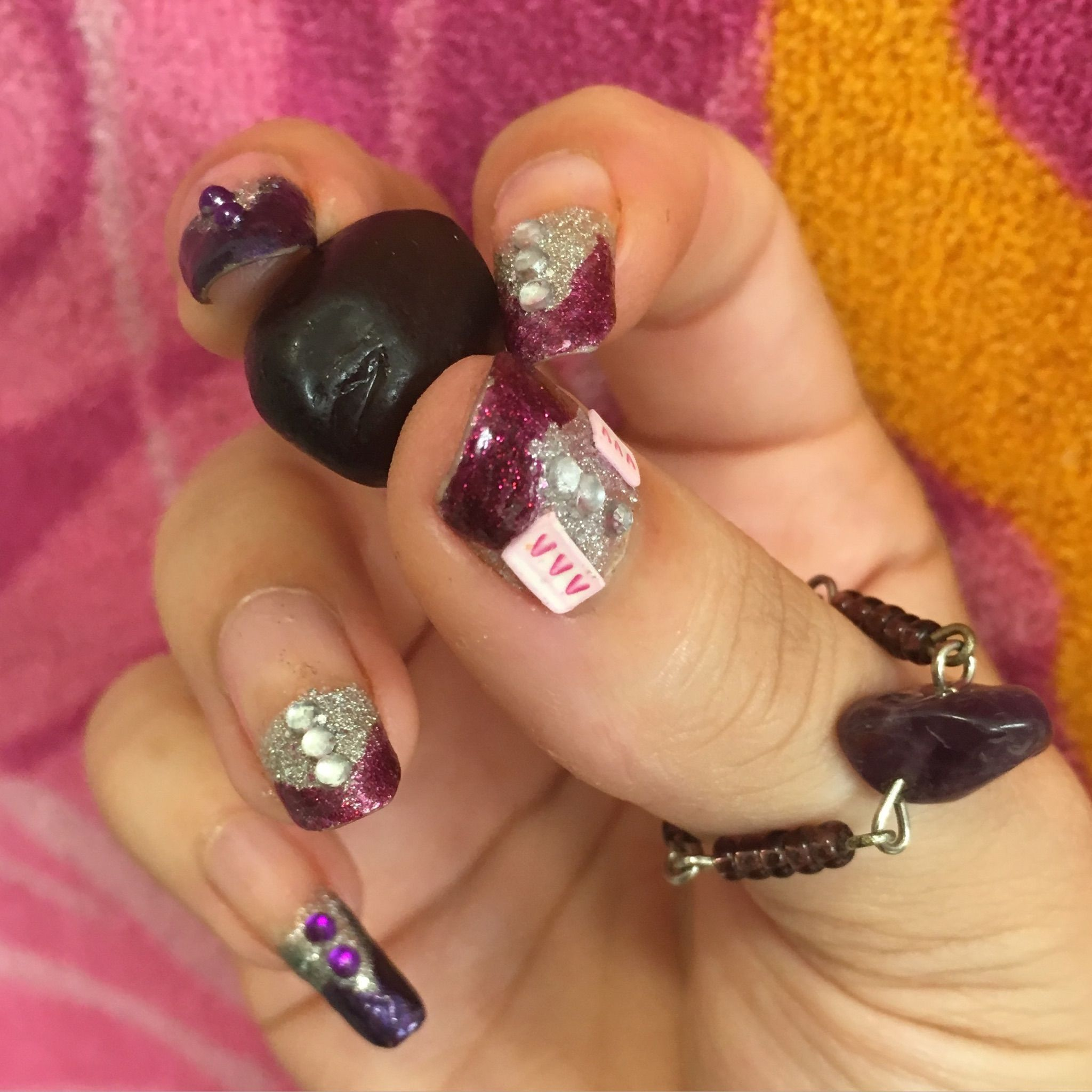 Sparkly fun French nails by MaxAna X | MaxAna X nails | Pinterest ...