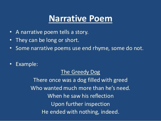 Examples Of Narrative Poems 1