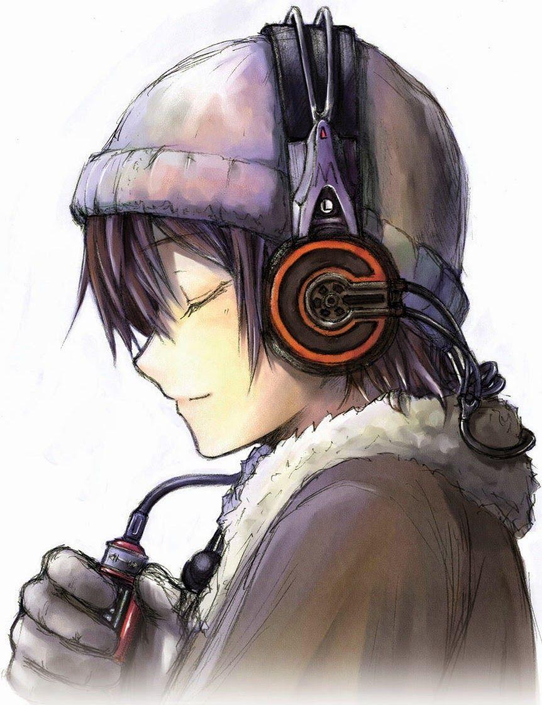 Imagem relacionada Anime boy with headphones, Anime