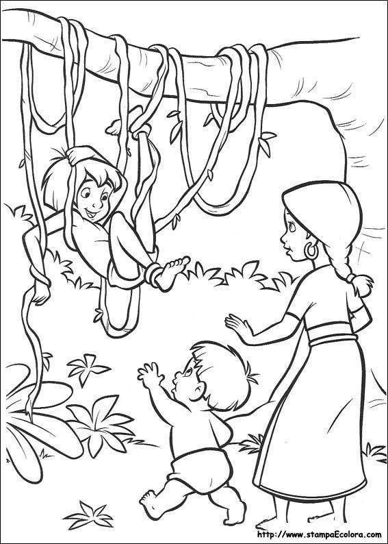 Guarda tutti i disegni da colorare di Mowgli e Baloo www ...