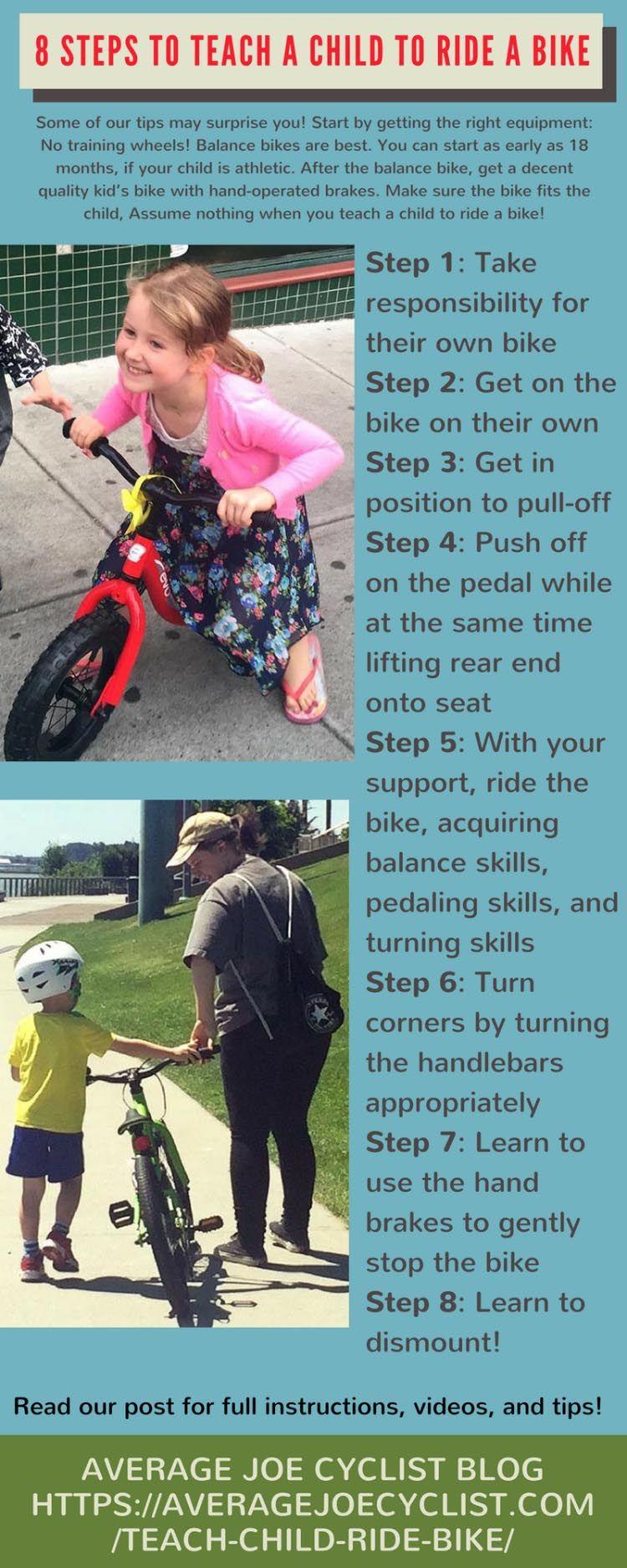 9 Simple Steps To Teach A Child To Ride A Bike Ciclismo Bicicletas