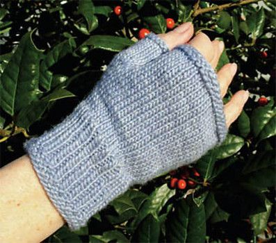 Fingerless Mitts Wrist Warmers Pattern To Knit For The Whole Family