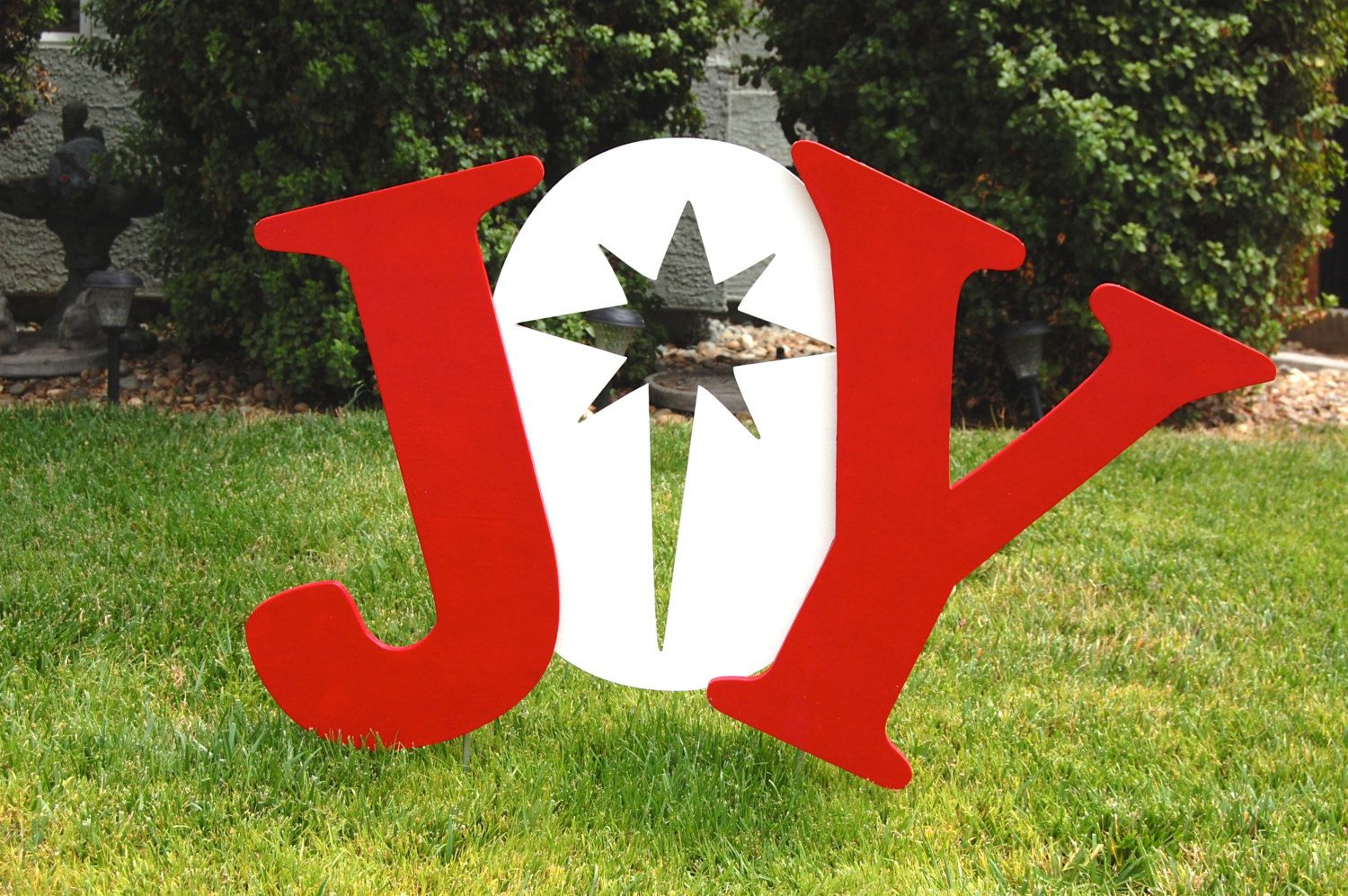JOY Christmas Outdoor Decoration Wood Sign by IvysWoodCreations ...