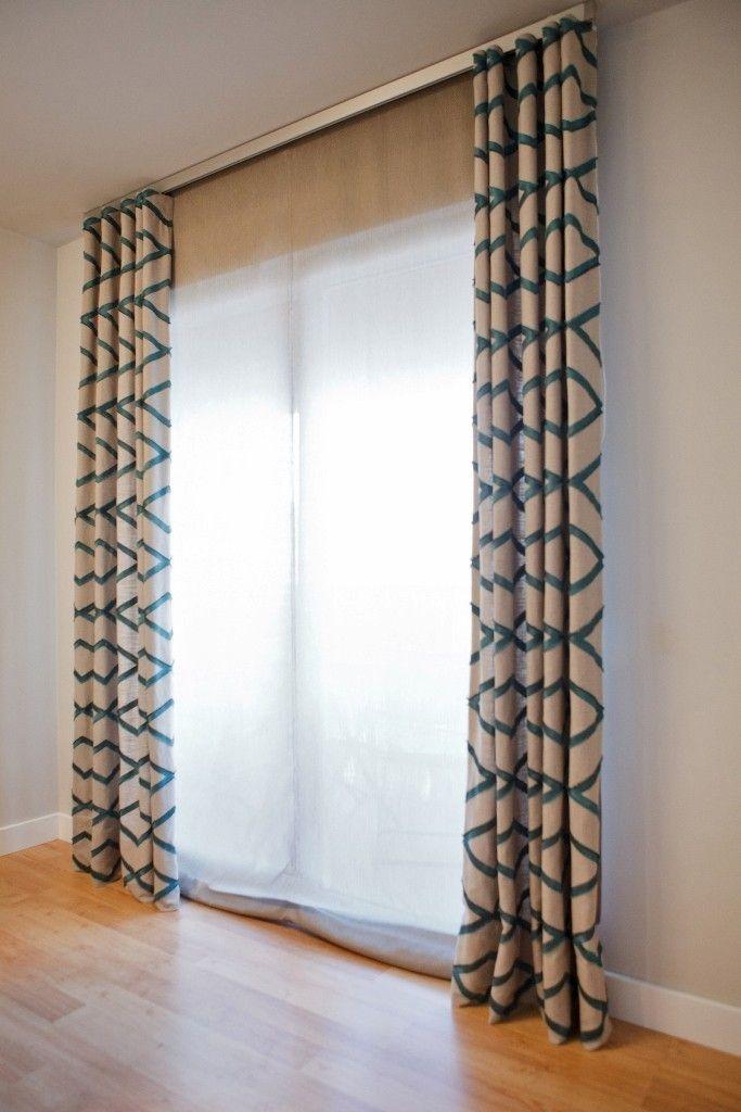Estor pachetto y caidos de cortinas al tono Cortinas Pinterest - cortinas azules