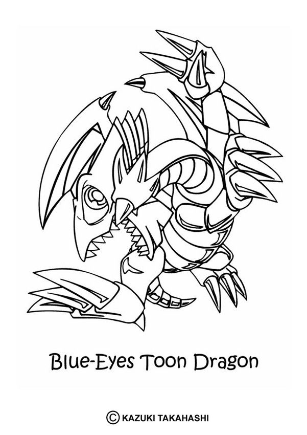 blue eyes toon dragon coloring page check out all the yu gi oh