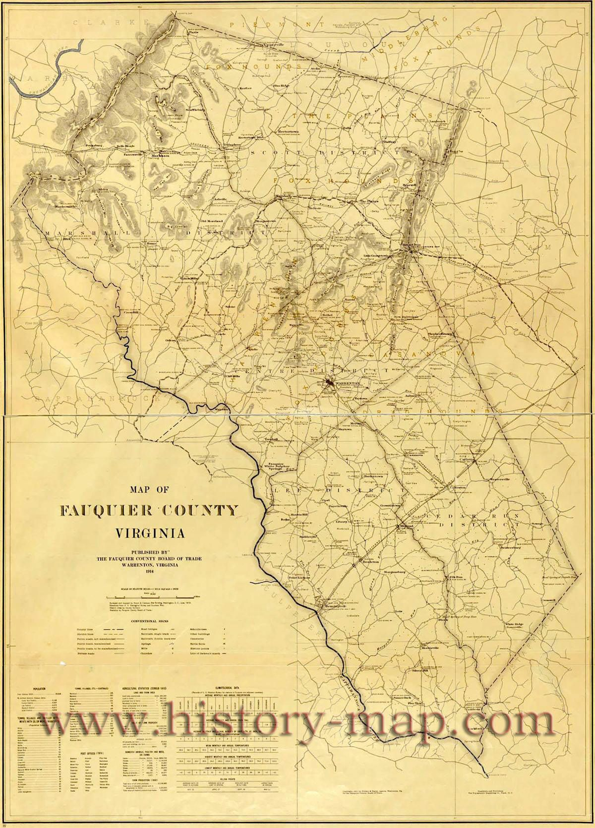 Map of Fauquier County - VA, U.S.A. | JO-From Here And There ... Map Of Fauquier County Va on