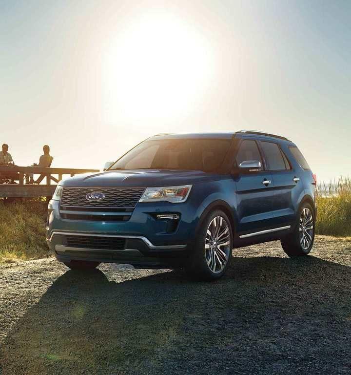 2018 Ford Explorer Platinum In Blue Metallic Ford Explorer 2020 Ford Explorer Car Ford