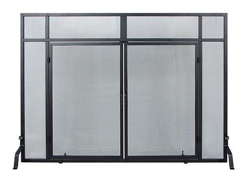 Minuteman International Windowpane Fire Screen with Doors | seattleluxe.com