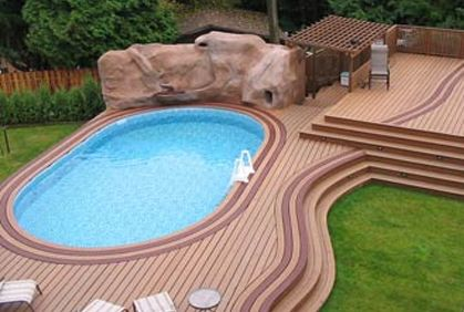 Pool deck design ideas with most popular diy makeovers and for Most popular above ground pools
