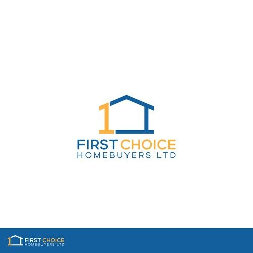 First Choice Homebuyers Ltd Logo Require For Uk Property Cash Buyers Quick Sale Company Real Estate Logo Monogram Logo Cash Buyers