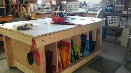 Great work table! | Work table, Workbench, Home decor