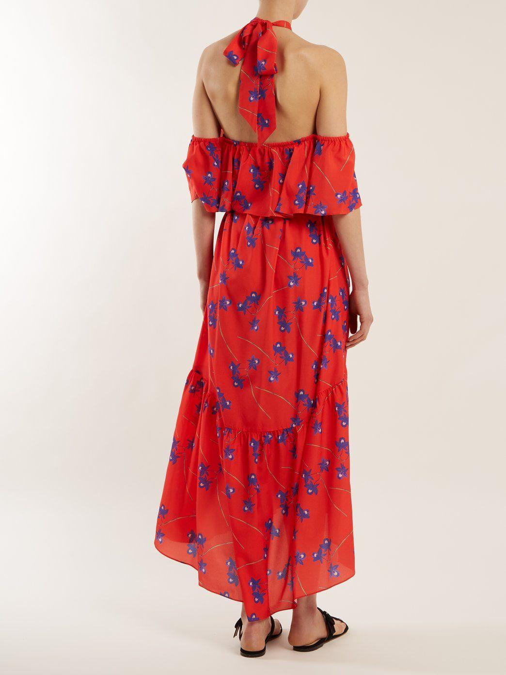 Josephine off-the-shoulder crepe dress Borgo De Nor 6q1o3Q3