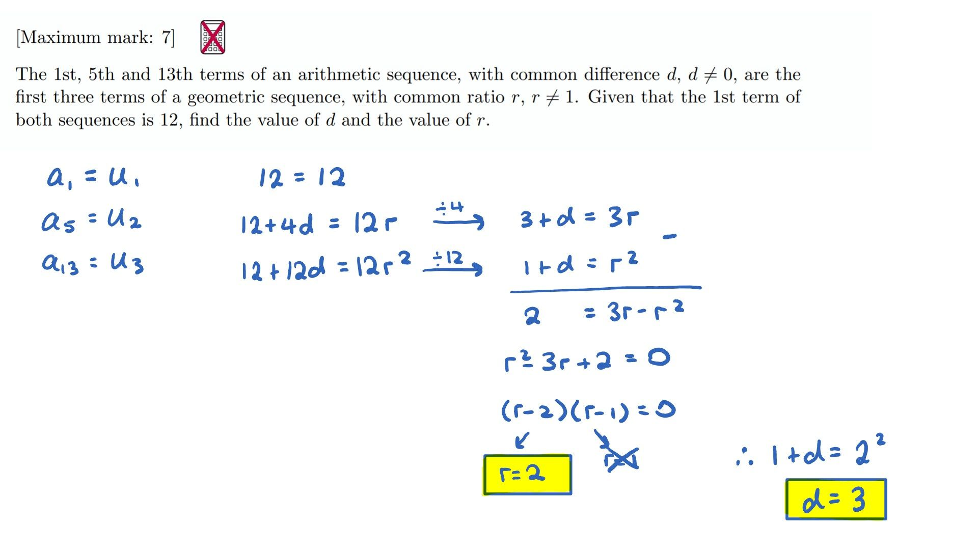 57 Arithmetic Sequence Worksheet Answers Pictures
